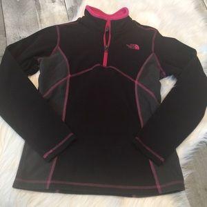 Girls North Face fleece jacket size M (10/12)
